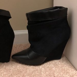 Wedge pointy toe boots size 8